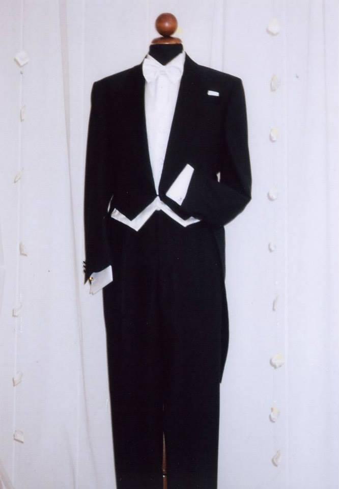 Tight nero di lana e seta lucida by Franco Aldini